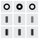 Vector tire icon set Stock Photography