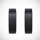 Vector tire icons Royalty Free Stock Image