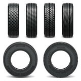Vector tire icons Royalty Free Stock Photography