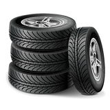 Vector Tire Set Stock Images