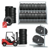 Vector Tire Shop Icons Stock Photos