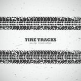Vector tire tracks background design. Illustration Stock Photography