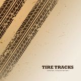 Vector tire tracks on mud background. Tire tracks on mud background vector Royalty Free Stock Images