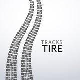 Vector tire tracks on white isolated elements for design Royalty Free Stock Photography