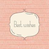 Vector tmplate für Grußkarte, Hochzeitseinladung oder Menü Beste Wünsche - Zitat Stockfotos