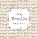 Vector tmplate für Grußkarte, Hochzeitseinladung oder Menü Hand gezeichneter Hintergrund Stockfotografie