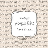 Vector tmplate for greeting card, wedding invitation or menu. Hand drawn background. Stock Photography