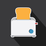 Vector of toaster for design icon. Royalty Free Stock Photos