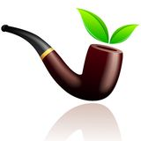 Vector tobacco pipe. Royalty Free Stock Images
