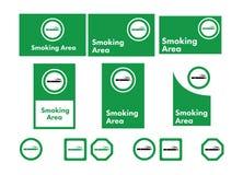 Vector toegestane pictogramreeks van het roken Stock Afbeelding