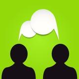 Vector toespraakbellen Stock Foto's