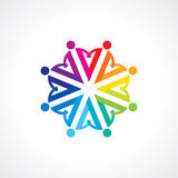 Vector togetherness concept illustration. Colourful Vector togetherness concept illustration Royalty Free Stock Image