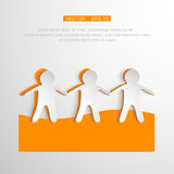 Vector togetherness concept illustration. People. Symbol chain. Elements are layered separately in vector file. Eps 10 Stock Photography