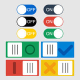 Vector Toggle switch icons. stock illustration