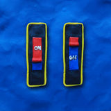 Vector toggle switch on and off Royalty Free Stock Photos
