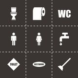 Vector toilet icon set Stock Images
