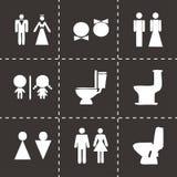 Vector toilet icon set Royalty Free Stock Image