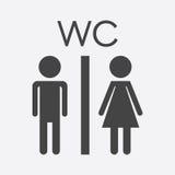 Vector toilet, restroom icon on white background. Stock Photo
