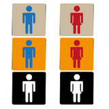 Vector toilet or restroom signs Stock Photos