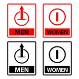 Vector Toilet signs stock vector, men and women icon set, flat designs. EPS file available. see more images related vector illustration