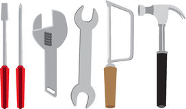 Vector tool kits Stock Image