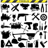 Vector Tool Pictograms. On white background Stock Photography