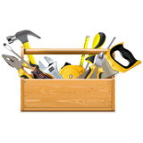 Vector Toolbox with Instruments Stock Image