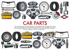 Vector Tools And Car Spare Parts Stock Photos