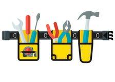 Vector tools belt yellow Stock Photography
