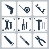 Vector tools icons set Royalty Free Stock Photography
