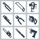 Vector tools icons set Stock Photo