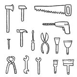 Vector tools set Stock Image