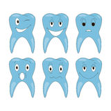 Vector tooth emotions Royalty Free Stock Image