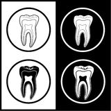 Vector tooth icons Stock Images