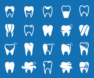 Vector tooth icons, symbols and design elements Stock Image