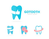 Vector of tooth and like logo combination. Dental and best symbol or icon. Unique clinic and oral logotype design Royalty Free Stock Photography