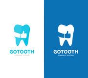 Vector of tooth and like logo combination. Dental and best symbol or icon. Unique clinic and oral logotype design Stock Images