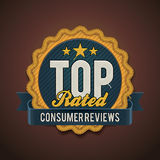 Vector top rated badge Royalty Free Stock Images