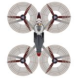 Hover bike vector flat top view illustration. Vector top view illustration of hover bike. Hovering motorcycle, hovercraft, the next generation of transportation Stock Photo