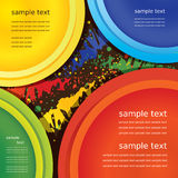 Vector top view of primary colors Stock Photo