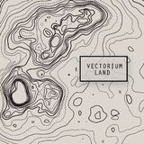 Vector topography map. Vector design element. Abstract topography map. Background texture Royalty Free Stock Image