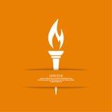 Vector of  torch. Stock Photos