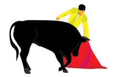 Vector torero with bull Stock Images