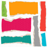Vector torn paper objects. Royalty Free Stock Photos