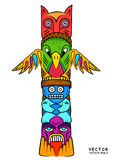 Vector Totem Pole Royalty Free Stock Image