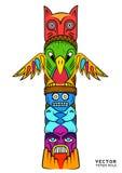 Vector Totem Pole royalty free illustration