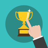 Vector of Touching  Trophy Stock Images