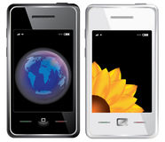 Vector touchscreen smartphone Stock Photography