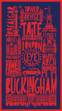 Vector touristic hand drawn london city poster Royalty Free Stock Photos
