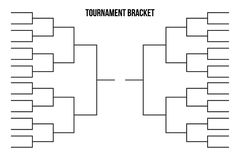 Vector tournament bracket. Templates for 32 sport teams stock illustration